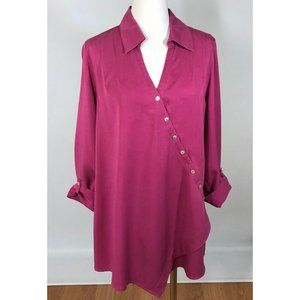 Soft Surroundings Tunic Pink Cross Over Large